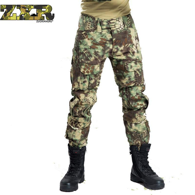 Camouflage tactical War Cargo Cargo pants mens silm Casual Pants mens trousers Combat SWAT Army military Active 11 Colors