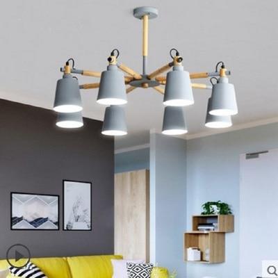 Modern led Chandelier for Kitchen Dining Room Living Room Suspension  luminaire Hanging Pink Blue Bedroom Chandeliers Fixtures