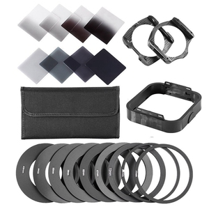 Zomei Gradient Neutral Density Complete & Gradual ND Square Filter Kit +Adapter rings for Cokin P Series SLR DSLR Camera Lens(China)