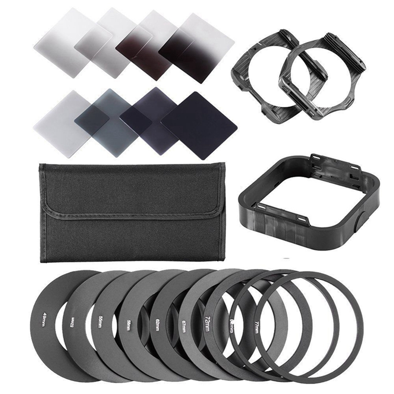 Zomei Gradient Neutral Density Complete & Gradual ND Square Filter Kit +Adapter rings for Cokin P Series SLR DSLR Camera Lens 10 pcs lot pu1 4 pu 6 6mm to 6mm straight connectors pneumatic fitting pneumatic air connector push in quick joint connect