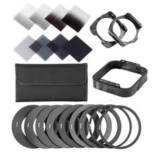 Zomei gradiente densidade neutra completa & gradual nd kit de filtro quadrado + anéis adaptador para cokin série p slr dslr câmera lente