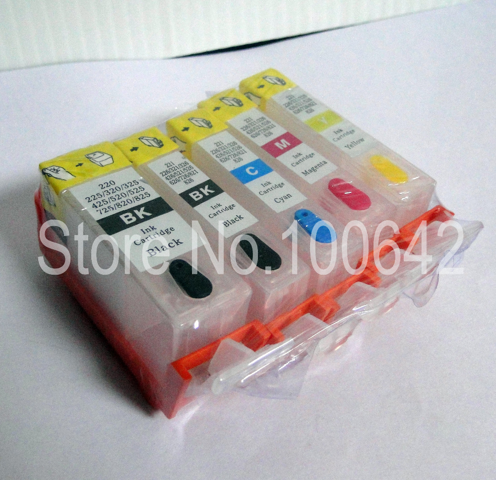1set Ink Cartridge PGI 225 CLI 226 For Canon PIXMA IP4820 MG5120 MG5220 MG6120 MG8120 MX870