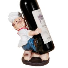 Home Decor Office Decoration Accessories Modern French Chef Brother Figurines Chef Miniatures Resin Wine Rocks Wine Holder Gift french wine
