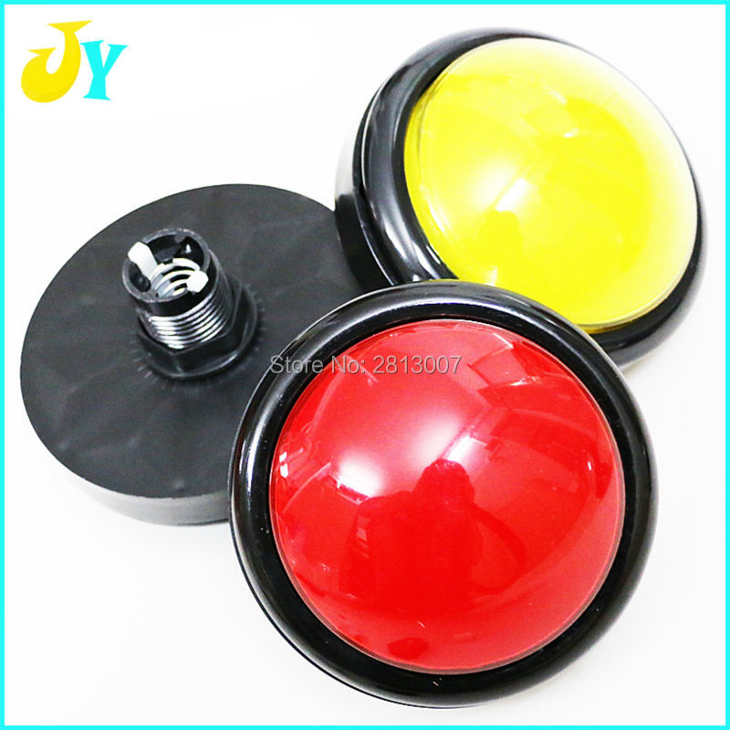 5V 12V LED Lights Convex 100mm Buttons Large illuminated Keys Amusement parts Button Switches With Microswitch