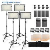 Capahorrador LED Luz de vídeo fotografía iluminación 4 en 1 Kit Panel led con trípode 3200 K/5600 K CRI93 lámpara de estudio fotográfico de 240 LEDs