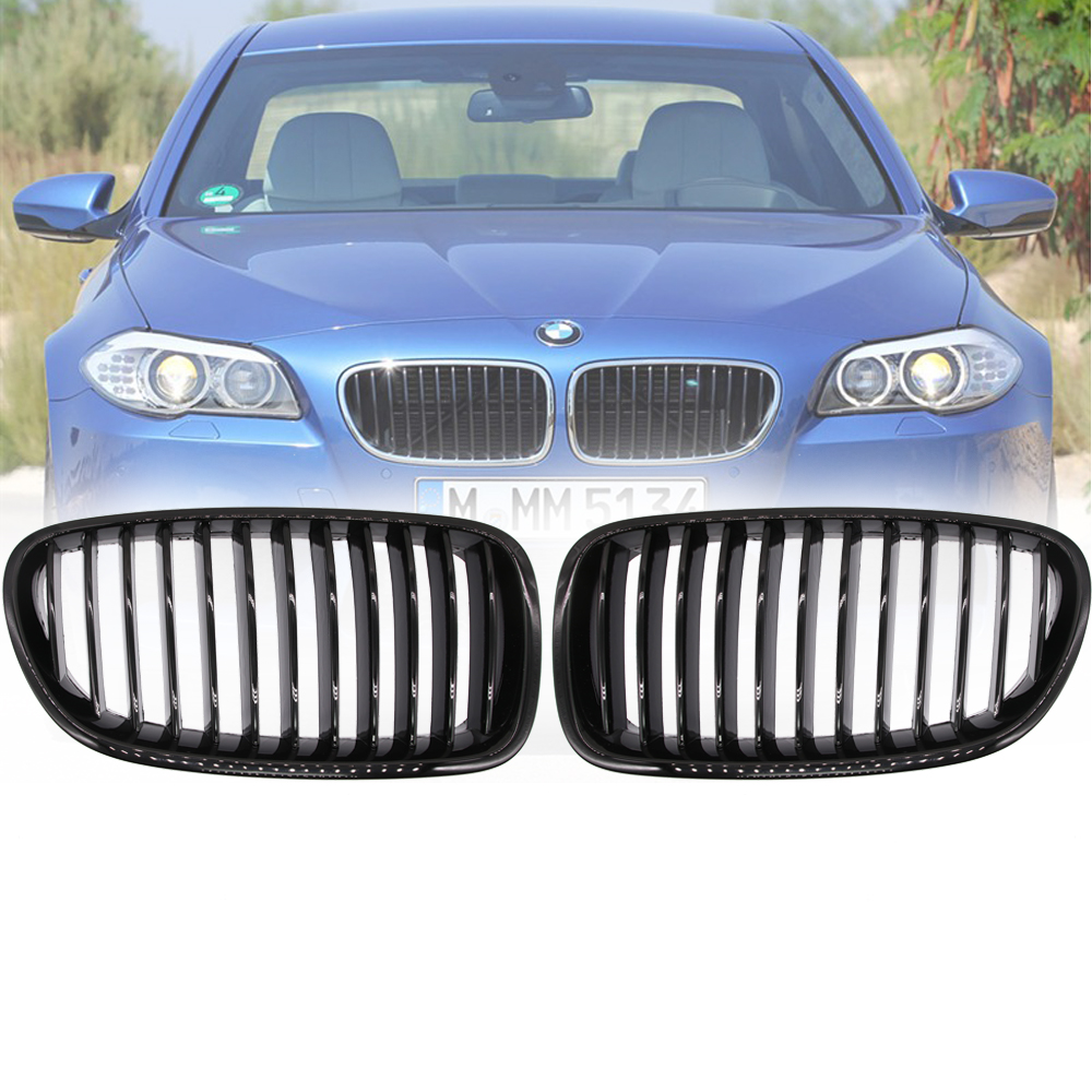 Gloss Black Front Kidney Grille For BMW F18 F10 F11 5 Series 528i 535i 2010 2011 2012 2013 2014 2015 2016