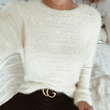 Tassle Thin Autumn Winter Women Wool Cropped Jumpers Fluffy Mohair Sweater  Mujer Pullover Sweaters Crop Top 6ec46d0b2