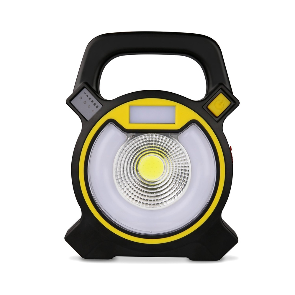 LED Work Light USB Rechargeable Flood Light Portable Outdoor Camping Spot Light with USB Port and Emergency SOS Mode