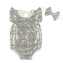 NAET cher Silver baby winter Jumpsuit Romper kids warm