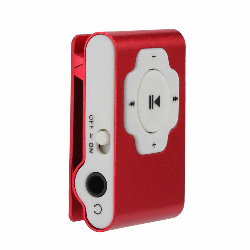Mini reproductor de MP3 portátil USB compatible con tarjeta Micro SD TF 32GB deporte música Media 7,23