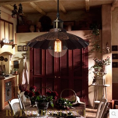 ФОТО Lampe Vintage Pendant Lights Fixtures Style Loft Industrial Lamp Fixtures Edison Bulb Handing Light American Country