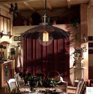 Lampe Vintage Pendant Lights Fixtures Style Loft Industrial Lamp Fixtures Edison Bulb Handing Light American Country