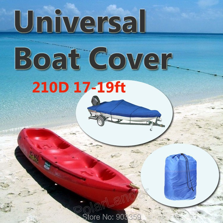 2015 Boat Cover 210D Oxford V-Hull Speedboat Cover 17-19ft High Quality Prevent UV Sunproof Waterproof color Blue cover co124 17 cover