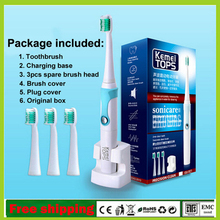 KM-907 Wireless Charge Electric Toothbrush Ultrasonic Sonic Rotary Electric Toothbrush Rechargeable Tooth Brush Use for Adult