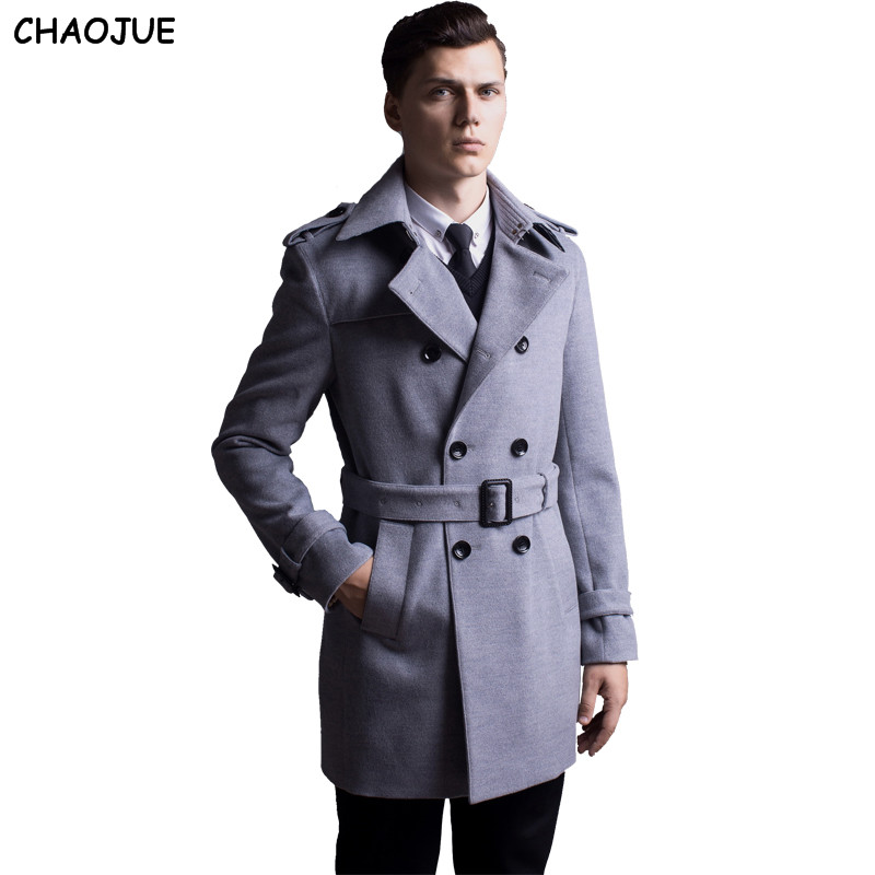 Mens Fashion Double Breasted Coat