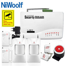 GSM10A Wireless/Wired GSM Alarm System Phone SIM GSM Home Burglar Security , Include Door open detector, Motion detector(China)