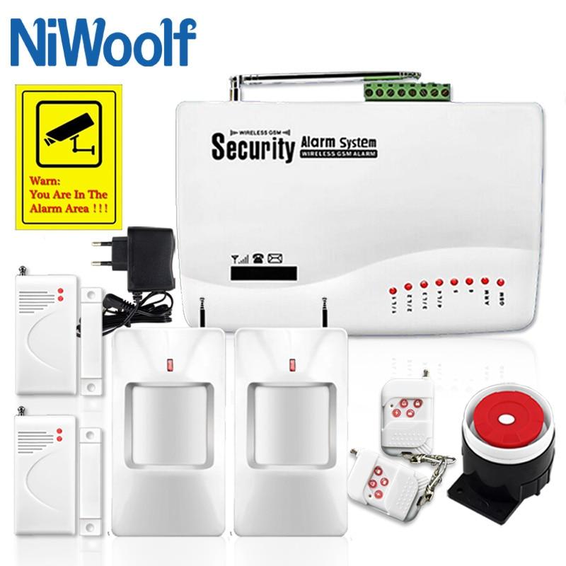 GSM10A Wireless/Wired Sistema di Allarme di GSM SIM Del Telefono GSM Casa Antifurto di Sicurezza, Include rilevatore di Porta aperta, rilevatore di movimento