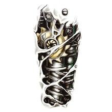 Fashion Man 3D Tattoo Robot Arm Waterproof Temporary Tattoo Stickers