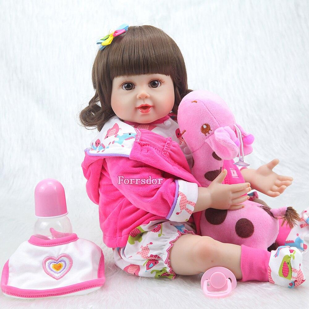 20 cal silikon Reborn Baby Girl realistyczne noworodka Baby Doll z Cuty Cawn Boneca Brinquedos prezenty zabawki dla dzieci w Lalki od Zabawki i hobby na  Grupa 2