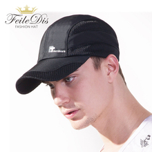 [FEILEDIS] Men Women Summer Snapback Quick Dry Mesh Baseball Cap Sun Hat Bone Breathable Trucker Hats JMM-15
