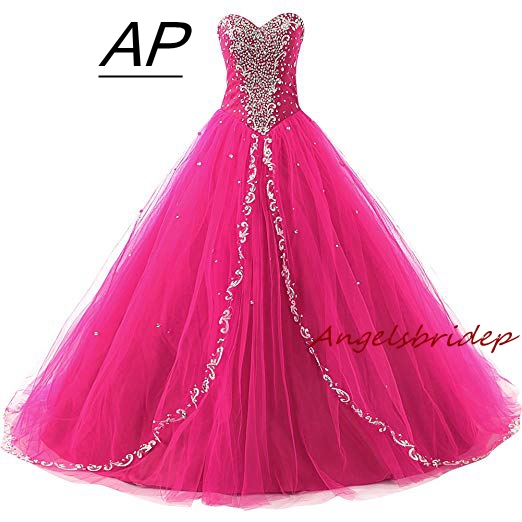 ANGELSBRIDEP Quinceanera Dress 2019 Vestidos De 15 Anos Princesa Sweetheart Full Sequins Floor Length Formal Dress