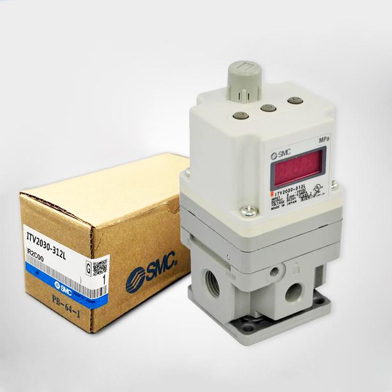 SMC Electronic Vacuum Regulator/ Electro-Pneumatic Regulator ITV2030-312L for Pneumatic Equipment Control Air pressure bellofram t77 vacuum regulator 960 500 000 2psi vacuum low pressure valve