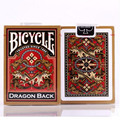 US imported bicycle back Bicycle Gold Dragon poker 1PCS Magic Playing Cards Magia Props Funny Deck