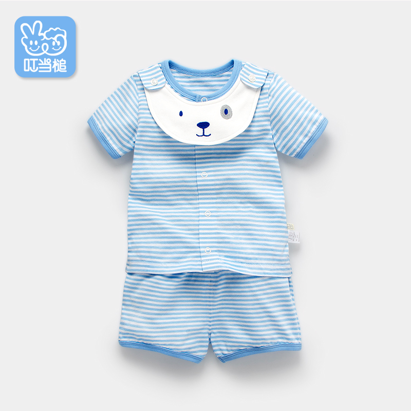 Dinstry summer newborn clothes cartoon T-shirt+shorts 2pieces sets stripes fashion summer baby short sleeve suit family fashion summer tops 2015 clothers short sleeve t shirt stripe navy style shirt clothes for mother dad and children