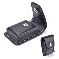 1 sztuk czarny lżejszy prezent uchwyt skrzynki torba mężczyźni wiatroszczelna Zippo papieros małe pudełko Case dla Zippo Super mecz wysokiej skóry okładka