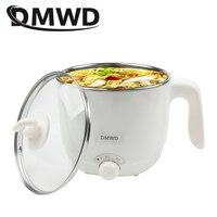 DMWD 110V 220V Multifunction electric Skillet Stainless Steel Hot pot noodles rice Cooker Steamed egg Soup pot MINI heating pan