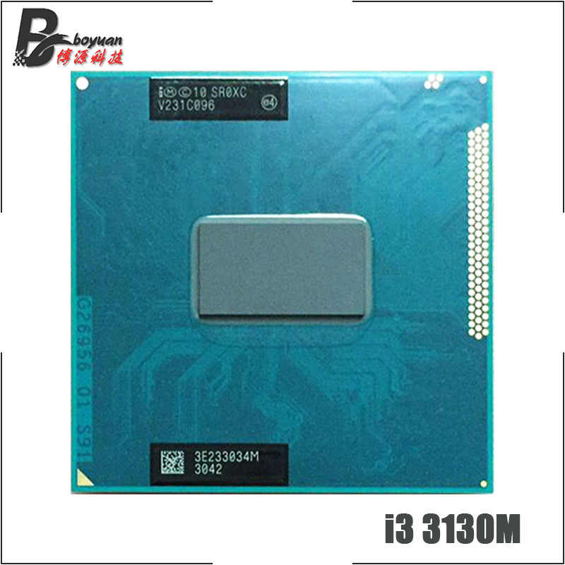 Intel Core i3-3130M i3 3130M SR0XC 2.6 GHz Dual-Core Quad-Thread di CPU Processore 3M 35W Presa G2/rPGA988B