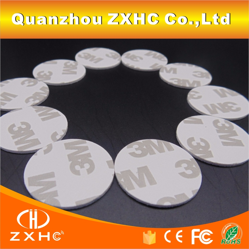 (10PCS/LOT) 25mm 13.56Mhz NFC 3M Sticker Adhesive Coin Cards Tags Ntag213 (Compatible 203 ) PVC Waterproof For All NFC Phones