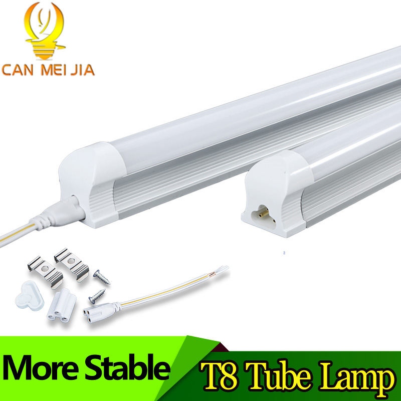 0.6M Tube LED T8 220V Lamp Light 600mm 2ft 9W Powerful Leds Wall Lamp Intergrated T8 Lighting SMD5730 Cold White/Warm White led t8 integrated tube 10w 600mm 110v 220v 85 265v transparent clear cover milky cover free ship 2ft white warm white smd2835