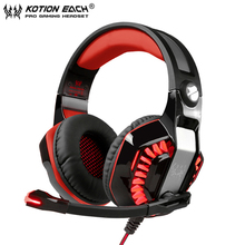 KOTION EACH Gaming Headphones casque G2000 Upgrade Best PC Gamer Stereo Headset with Microphone Led Light for Computer Game
