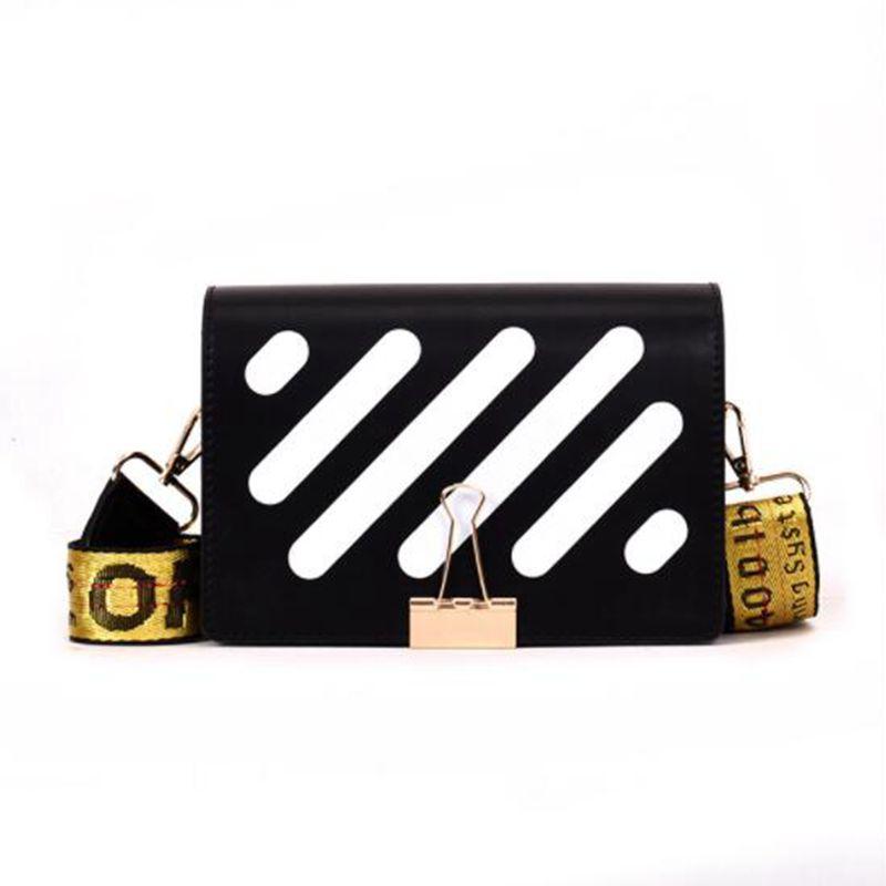 2020 New Pu Leather Stripe Messenger Bags Women Messenger Bags Fashion Shoulder Bags Female Crossbody Flap Design Bags Z-170