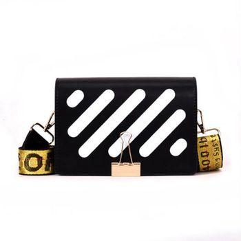 2020 New Pu Leather Stripe Messenger Bags Women Messenger Bags Fashion Shoulder Bags Female Crossbody Flap Design Bags Z-170 фото