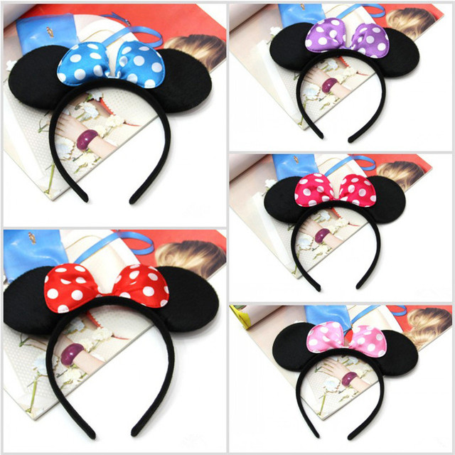 Minnie Mouse And Mickey Party Supplies Headband Hair Band Kids Birthday Decorations Baby Shower
