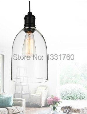 цена на medium size crystal bell glass pendant lights Modern glass lamp Dining room Indoor Contemporary lighting fixtures