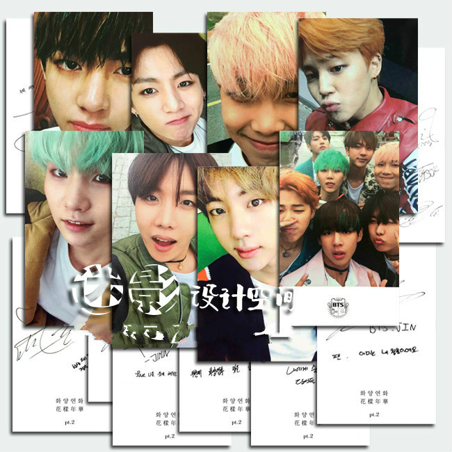 buy bts kpop fotos cards poster bangtan ready albums bts posta card 8 cards. Black Bedroom Furniture Sets. Home Design Ideas