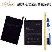 For Xiaomi Mi Note Pro Battery BM34 3010mAh Bateria Accumulator High Quality +Tools(China)