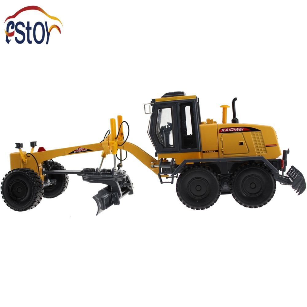 Alloy Diecast Grader truck model 1:35 Miniature Engineering scale vehicle Collection gift toy high simulation 1 40 scale diecast engineering vehicle mine dump truck metal model alloy toys collection for adult kids gifts