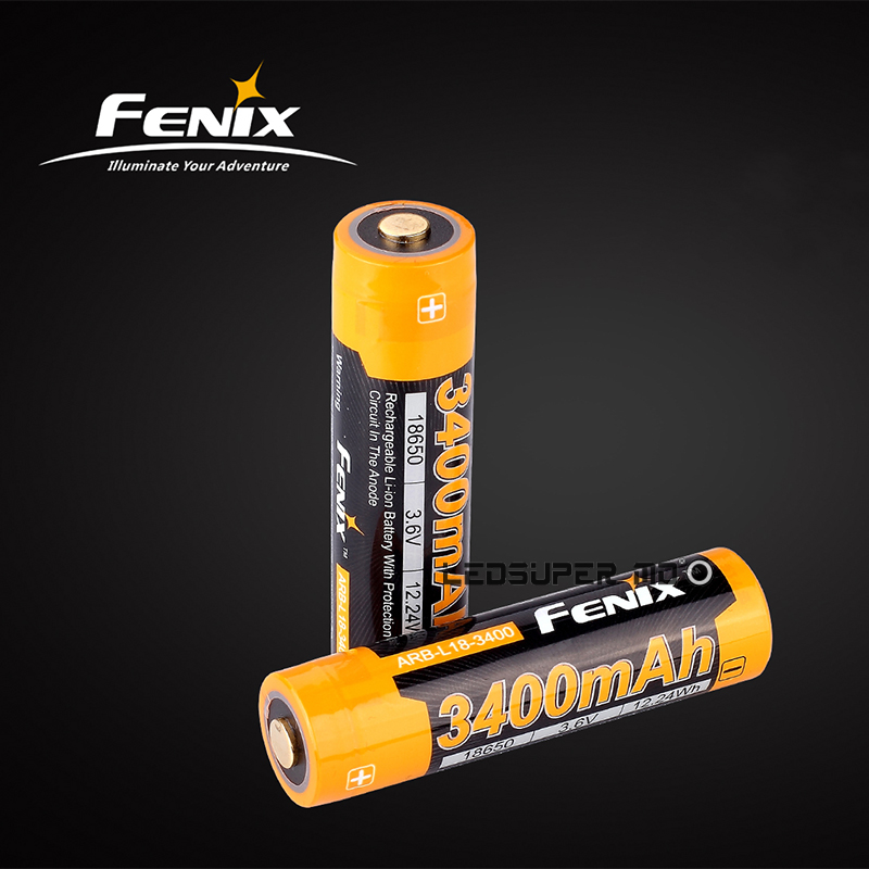 Original Fenix ARB-L18-3400 / 3500 Li ion Cell 3400mAh / 3500mAh 3.6V Rechargeable 18650 Battery for Portable Lighting free customs taxes super power 1000w 48v li ion battery pack with 30a bms 48v 15ah lithium battery pack for panasonic cell