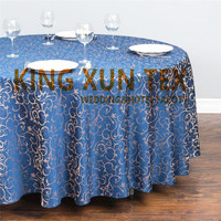 New Design Poly Jacquard Damask Wedding Table Cloth \ Round Tablecloth Free Shipping