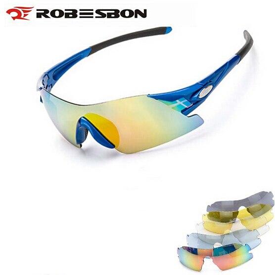 550dea6a16 ROBESBON Cycling Outdoor Sport Eyewear HD Myopia Cycling Sunglasses  Mountain Bike Goggles For Men Ciclismo Gafas 6 Lens