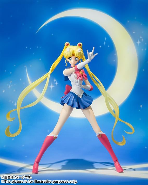 "Anime ""Pretty Guardian Sailor Moon Crystal"" Original BANDAI Tamashii Nations S.H.Figuarts / SHF <font><b>Action</b></font> <font><b>Figure</b></font> - Sailor Moon"