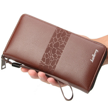 Handbag For Male Brand PU Leather Wallet Men Clutch Bag Leather Wallet Card Holder Coin Purse Zipper Male Long Wallets baellerry men purses big wallet men coin purse vintage male zipper clutch bag pu leather wallets long phone bag money wallet