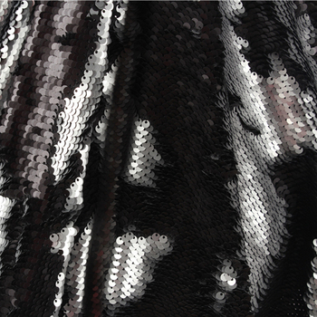 Báscula Reversible bordada iridiscente para boda SICODA, 5mm, doble lado, Tela De Lentejuelas reverso, adornos para prendas de vestir