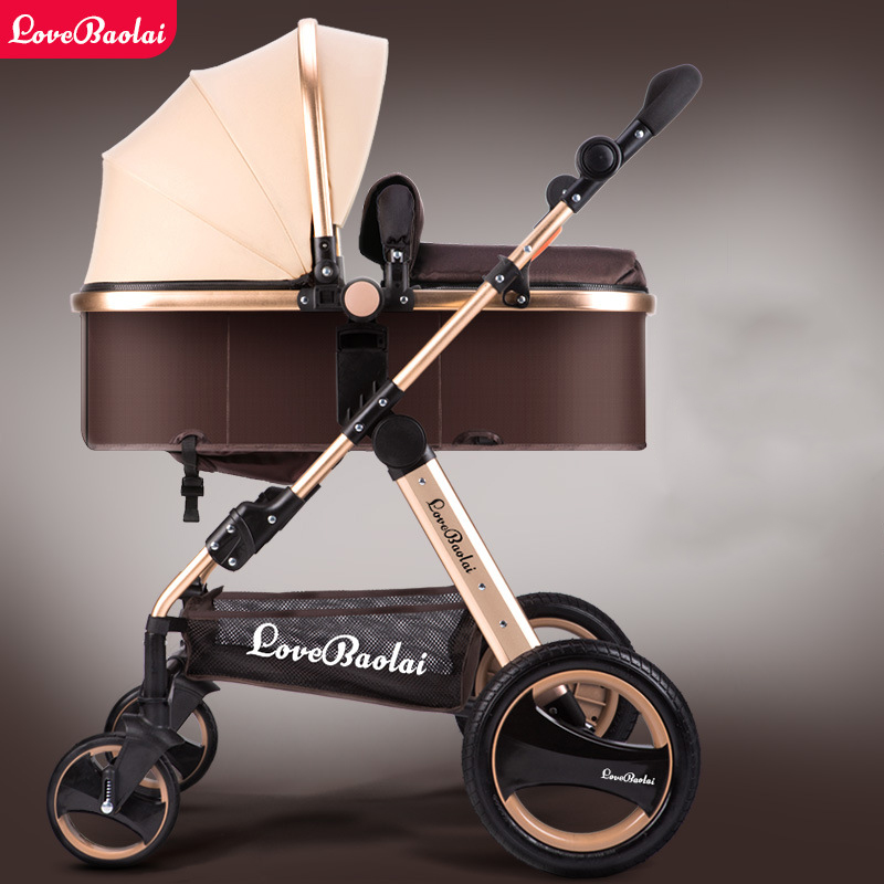 High-profile luxury baby stroller can sit can lying baby carriage hand can adjustable trolley war ax wheel umbrella car high profile luxury baby stroller can sit can lying baby carriage hand can adjustable trolley war ax wheel umbrella car