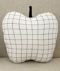 New Arrival big Fruit Pillow Grid Pear Pillow Lattice Apple Pillows Cushions Cotton Dolls & Stuffed Toys Decorative PillowStuffed & Plush Animals