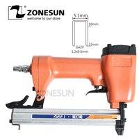 ZONESUN 422J Ga20 5.1mm width nail pin gun Pneumatic micro pinner nailer air brad for Furniture Wood Sofa woodworking Stapler
